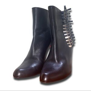 Christian Louboutin Buckle 140mm Leather Booties